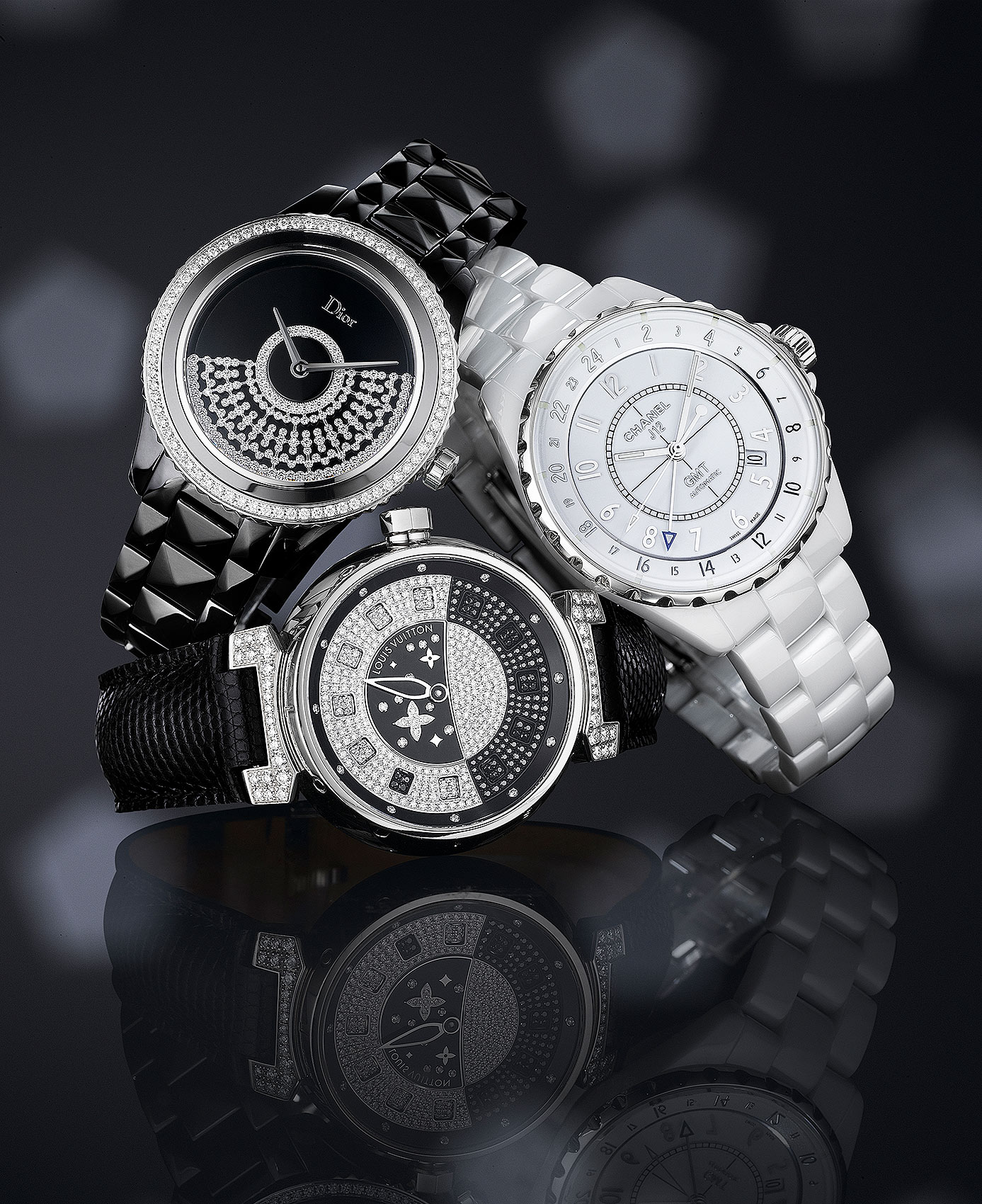 Black and White Timepieces