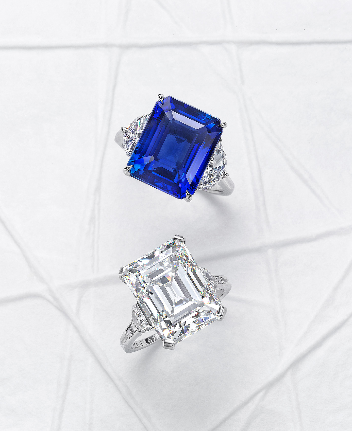 Diamond-and-Sapphire-Rings
