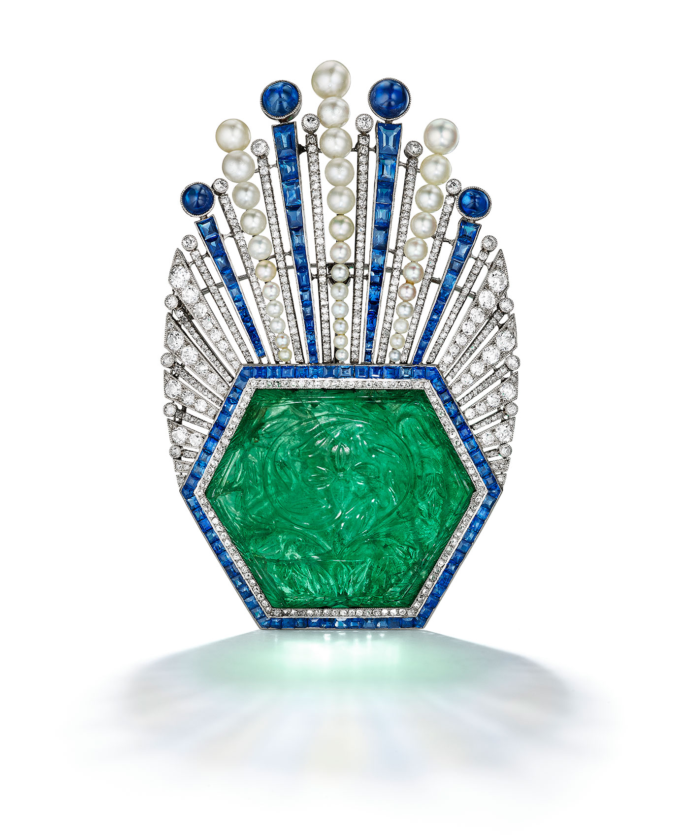 Emerald-and-Sapphire-Brooch