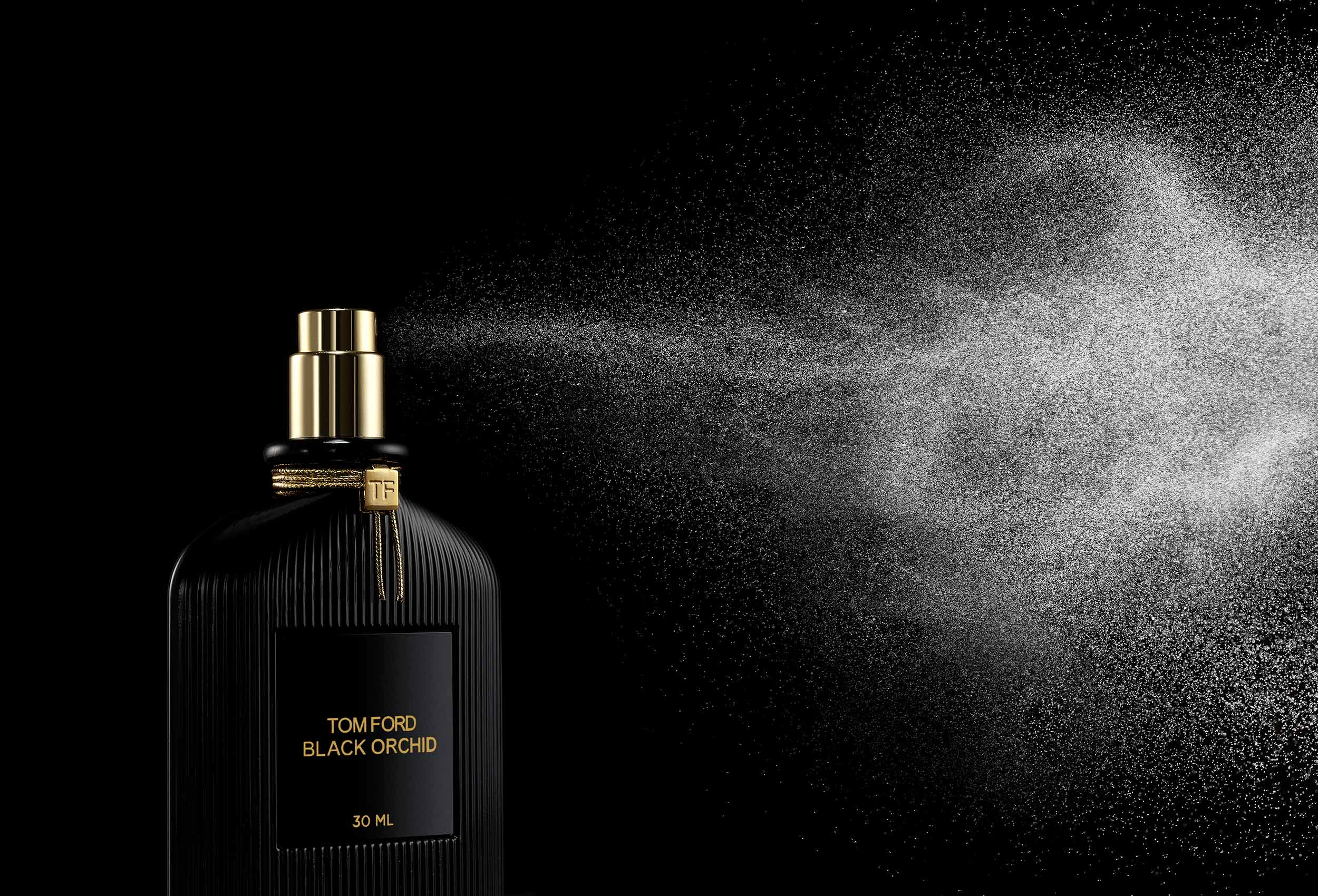 Fragrance Spray Photography