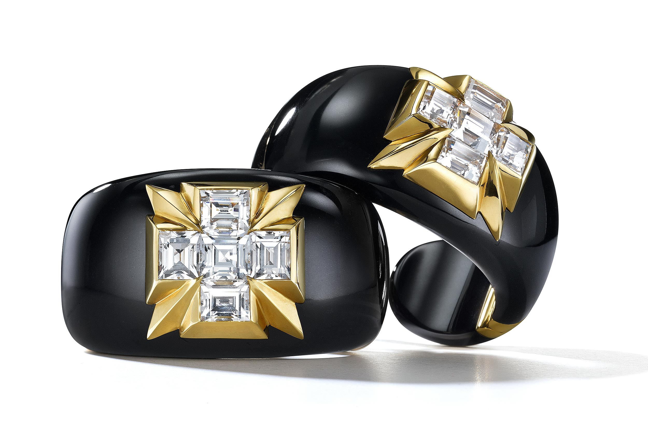 Gold-Onyx-and-Diamond-Cuffs