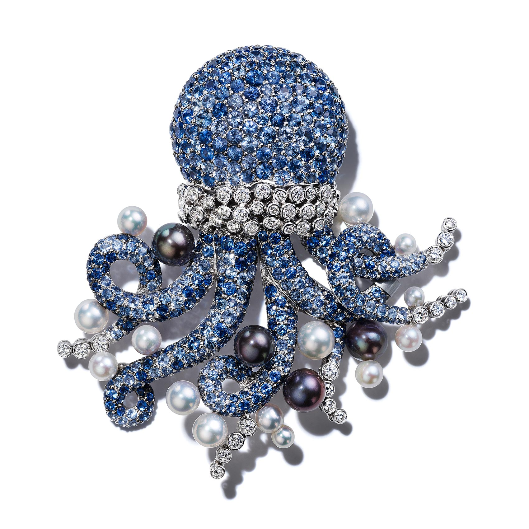 Octopus-Brooch