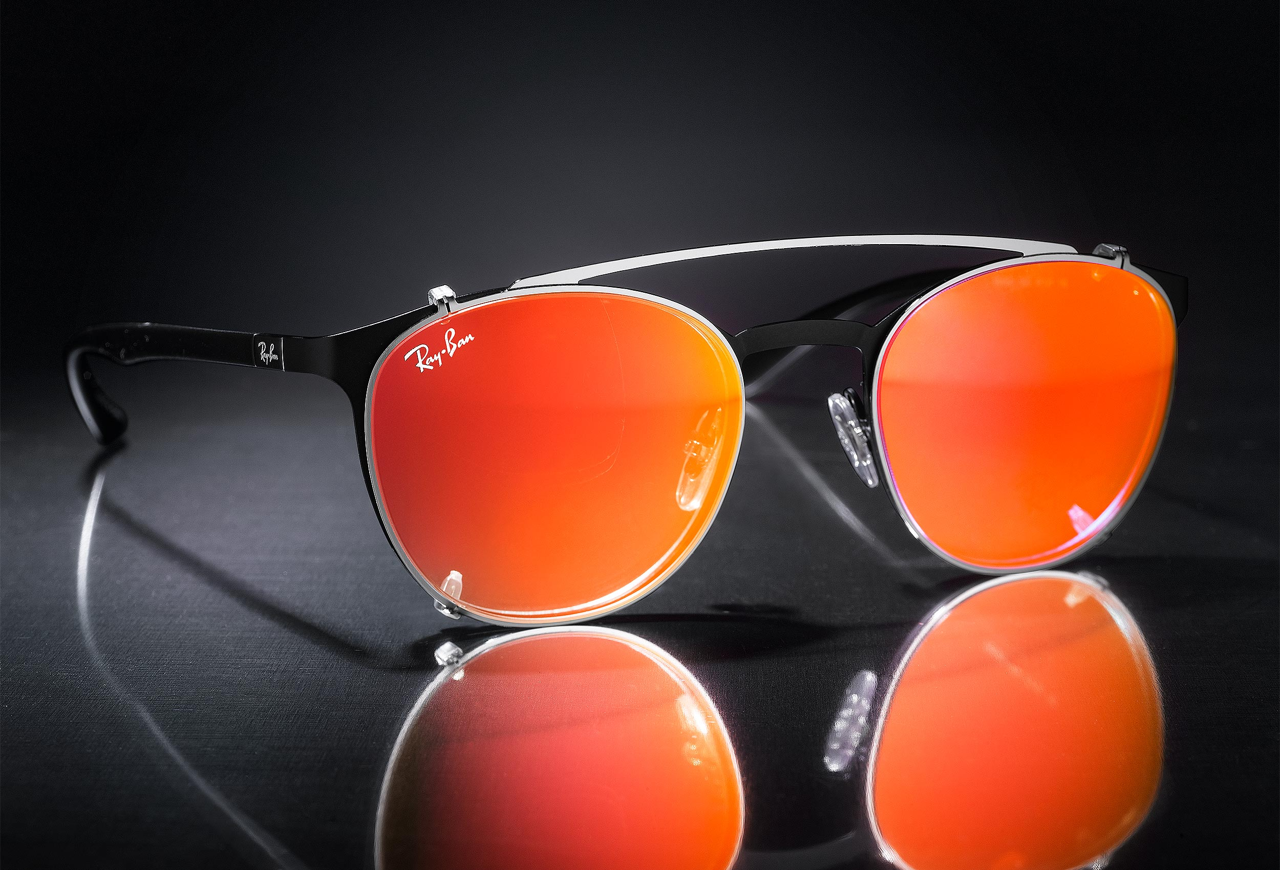 Orange Ray Bans