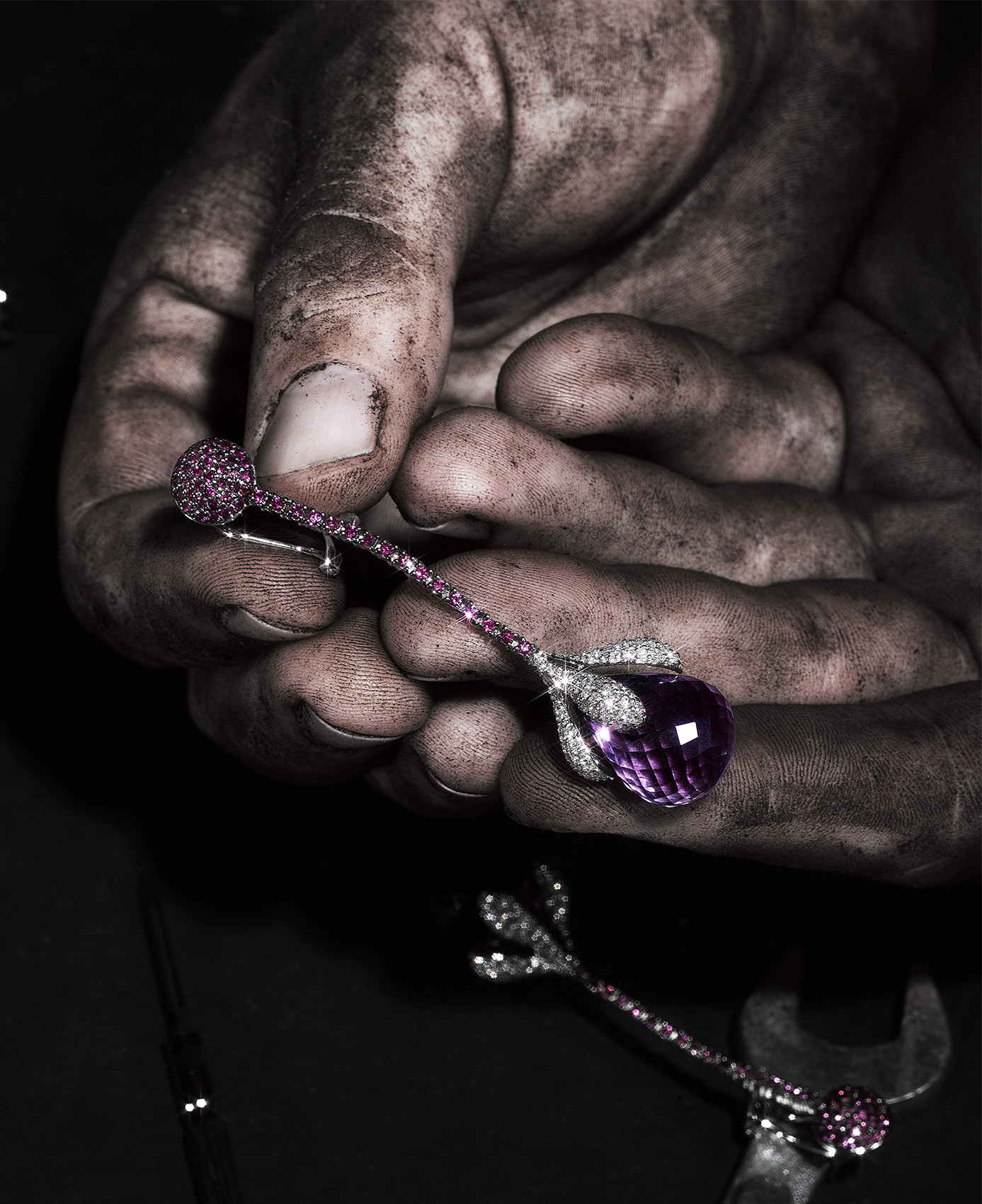 Purple-Earring