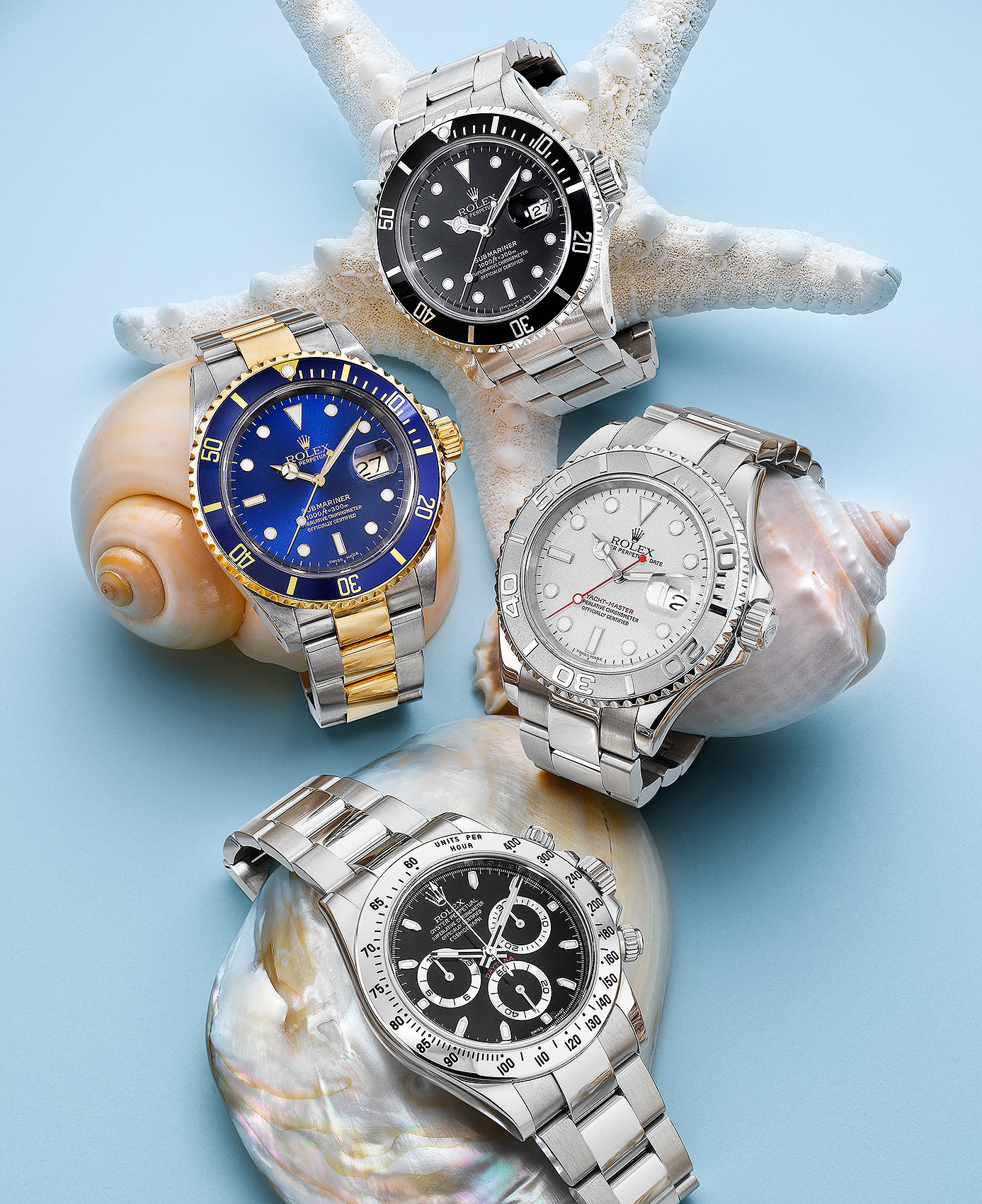 Rolex Timepieces with Shells