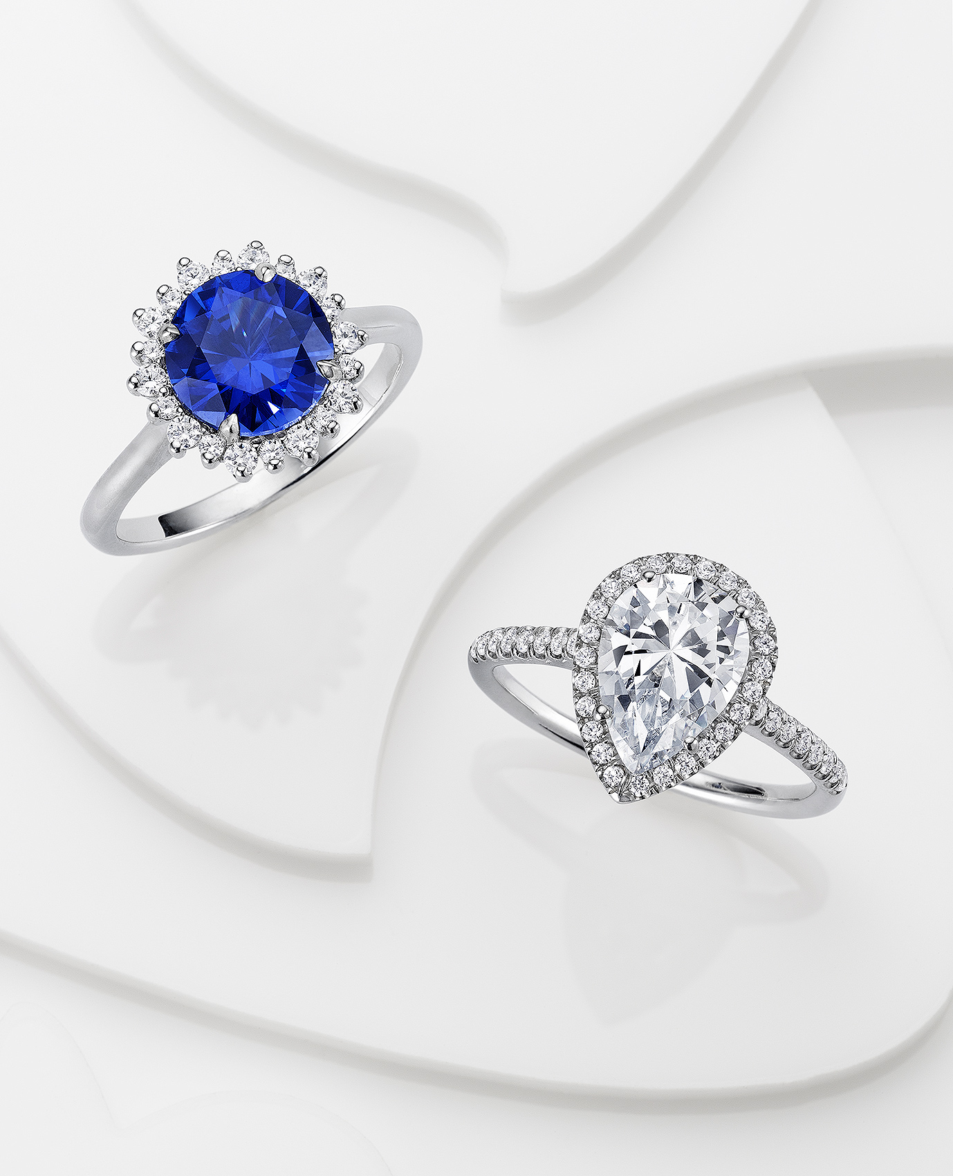 Sapphire and Diamond Rings