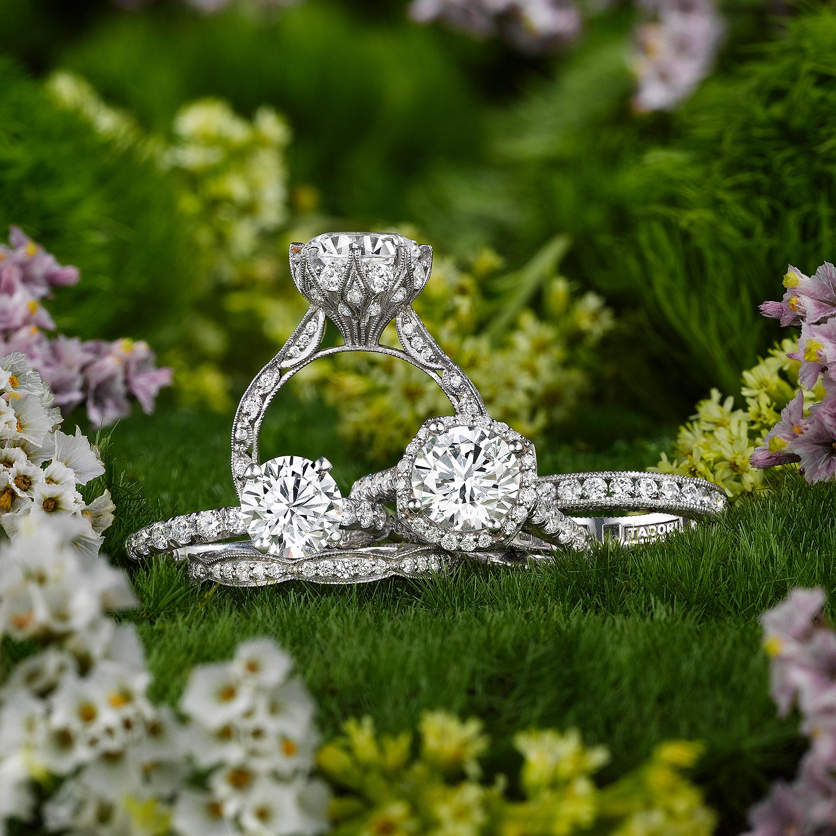 Tacori Rings with Flowers